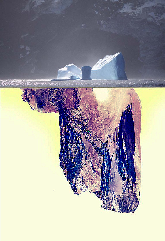 iceberg floating in water